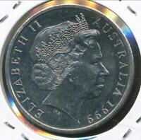 Australia, 1999 Twenty Cents, 20c, Elizabeth II - Uncirculated