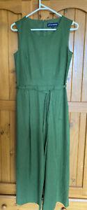 princess highway Ladies Size 6  Green  Linen Jumpsuit Bnwot