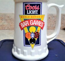 Collectible COORS LIGHT World Series of Bar Games Large Mug