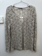 Myrine and Me Size XL Top BNWT RRP £49 Beige Lace Top Stretchy 16
