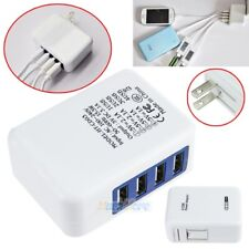 3.1A 15W 4 Port USB Portable Home Travel Wall Charger US Plug AC Power Adapter