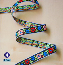 Vintage embroidery Trim Decorative Flowers lace ribbon DIY crafts