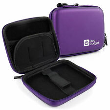 Rigid Purple EVA Case With Secure Dual Zip Lock For Sony NEX-3NL & Samsung ST72