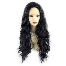Wiwigs ® fabulous black brown long curly ladies wig uk