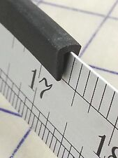 """1/8"""" X 1/4"""" Rubber Edge Trim HR70K SOLD BY THE FOOT in Black U Channel EPDM"""