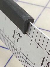"""1/8"""" Rubber Edge Trim HR70K Black U Channel EPDM 10 Ft End Cut Piece"""