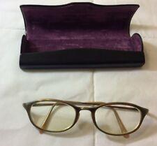 Oliver Peoples OP-548 Eyewear FRAMES Gold Rectangle Horn Rim