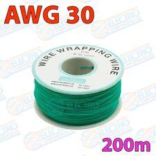 Bobina 200m Cable hilo AWG30 - VERDE - Arduino Electronica DIY
