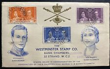 1937 Freetown Sierra Leone King George VI Coronation FDC First Day Cover KGVI
