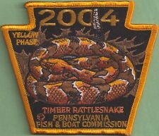 Pa Pennsylvania Fish Commission NEW 2004 YELLOW PHASE Rattlesnake Non-Game Patch