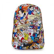 Loungefly Snow White Seven Dwarfs Disney All Over Laptop Bag Backpack WDBK0126