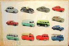 Öl-Bild auf Leinwand VW-Modellpalette Illustration von WIKING-Modellen 75x113 cm