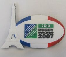 RUGBY WORLD CUP RWC 2007 EIFFEL TOWER FRANCE RUBBER 3D MAGNET OVAL