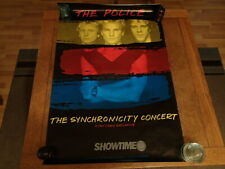 Vintage Promo Poster-The Police-Synchronicity Concert-Showtime-PayCable Exclusive