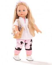 Götz Stehpuppe Puppe Jessica 46cm blonde Haare Schlafaugen blau Geschenk 1690390