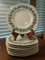 8 Wedgwood Barlaston Queensware Embossed Square Lunch Plates Sold Individually