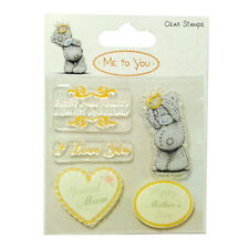 Me to you Tatty Ted Mothers Day Sentiments Clear Stamps - Free Postage