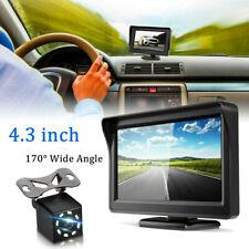 "Car Back up Rear View Reverse Parking Night Vision Camera +4.3"" TFT LCD Monitor"