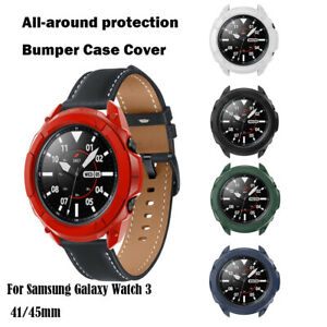 For Samsung Galaxy Watch 3 41/45mm TPU Bumper Case Cover Screen Protector New