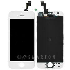 White iPhone 5S LCD Front Display Touch Sreen Digitizer Mid Frame Assembly Part