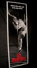 "Original THE BIG BRAWL Rare 20"" x 58"" Advance Theatre Door Panel JACKIE CHAN"