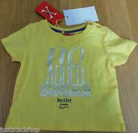 No added sugar baby girl boy top t-shirt 3-6, 9-12 BNWT designer yellow