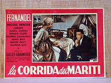 LA CORRIDA DEI MARITI fotobusta poster affiche Fernandel Nicole Berger E90