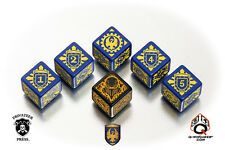 Warmachine Cygnar Faction Dice from Q-workshop