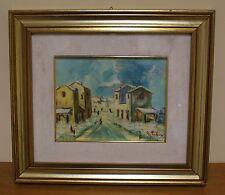 Dipinto ad olio su tela - Paesaggio urbano - Firmato in basso a destra