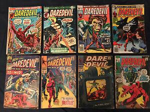 DAREDEVIL Lot of 8 Comics: #23,34,46,64,109 (Jewelers),128,145,157 (Jewelers)