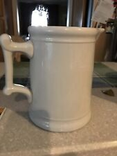 Tall White Antique Pitcher Warranted K T K Granite Ocean City NJ Kitchen Vtg