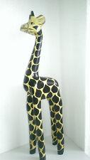 schöne GIRAFFE aus Holz handgeferigt 40cm Figur-Statue aus AFRIKA-DEKO Tier