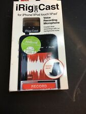 IK Multimedia iRig Mic Cast for iPhone/iPod touch/iPad New Open Box