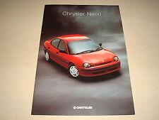 CHRYSLER NEON UK SALES BROCHURE - DATED MAY 1996
