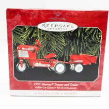 "1998 Hallmark Keepsake Ornament ""1955 Murray Tractor and Trailer"" Kiddie Car"