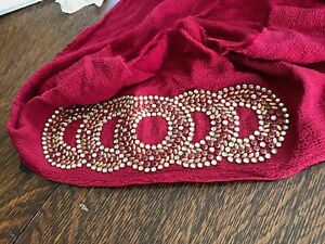 burgundy crepe trim decoration rubies clear gold dots  ring design designers pc.
