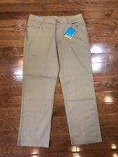 Mens Size 34x32 Columbia Khaki Pants Dark Brown Omnishade