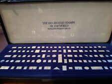 The 100 Greatest Stamps of the World. Sterling Silver Miniature Collection