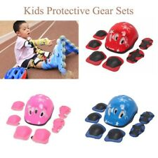 7Pcs Safety Elbow Wrist Knee Pads and Helmet Protect For Kids Skate Cycling Bike