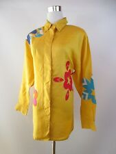 Rare Vintage Ladies SUZELLE Ramie Blouse Shirt Casual Design Details sz XL BF66