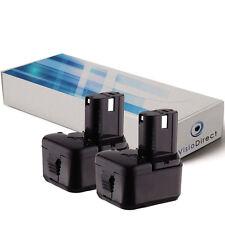 Lot de 2 batteries 12V 2000mAh pour Hitachi DS12DVF3 - Société Française -