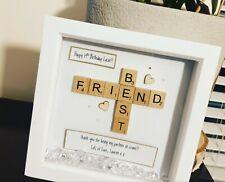 Handmade Personalised Frame Best Friend Scrabble Message Gift Present Birthday