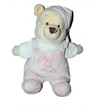 Doudou Winnie l'Ourson Salopette rose Lapin 25 cm Disney