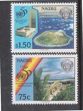 (K202-87) 1995 Nauru set of 2stamps Un anniversary (Dj)