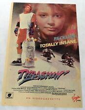 1987 THRASHIN' skateboarding movie ad page