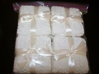 8 New Hand-Crocheted 100% Cotton Yarn Dish/Wash Cloths  White  FREE SHIPPING