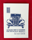 Fiat 508 Balilla 4 Marce Coloniale 4M Parts Catalog New