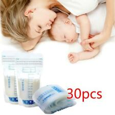 30pcs 250ml Pre-sterilised Baby Breast Milk Storage Freezing Bags Pouch LC