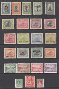 PAPUA collection of 24 stamps Mint Hinged