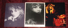 Stevie Nicks (of Fleetwood Mac) 8 x 10 Glossy Photo Lot of 3 (Vg/Excellent)